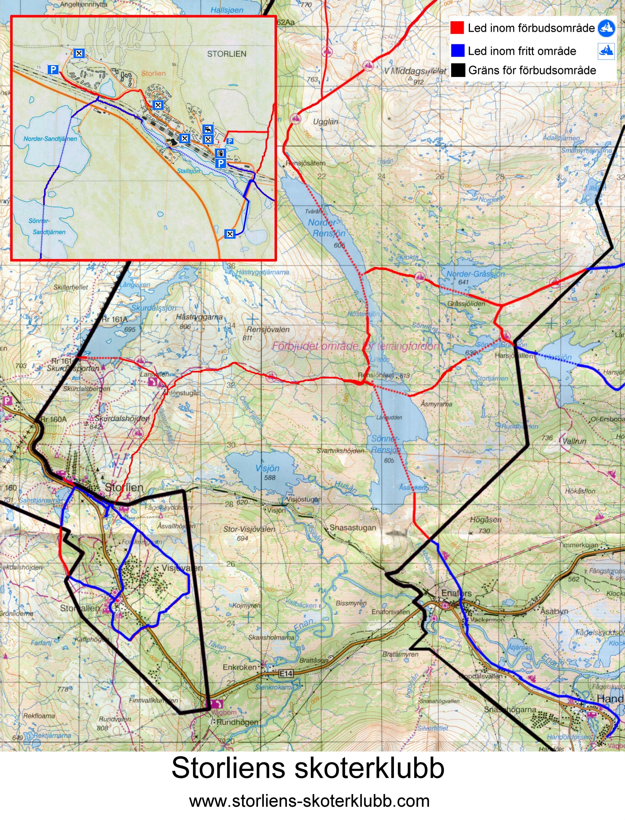 kart over storlien Løypekart Storlien kart over storlien