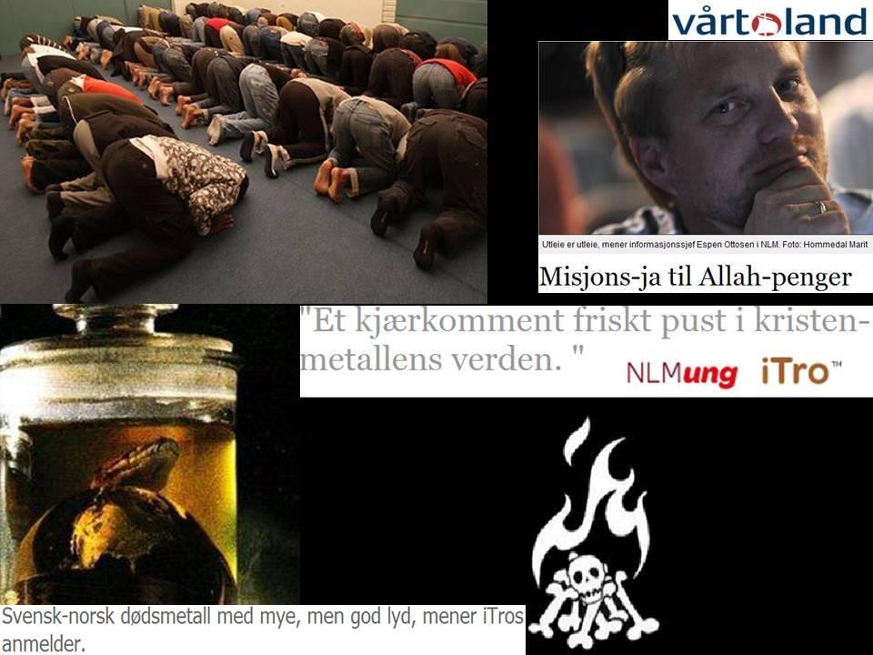 Allah Antikrist kristen sang og musikk rock heavy dødsmetal  NLM ung itro