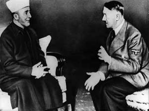 Arab muslim mufti of Jerusalem supports and meets Hitler 1941