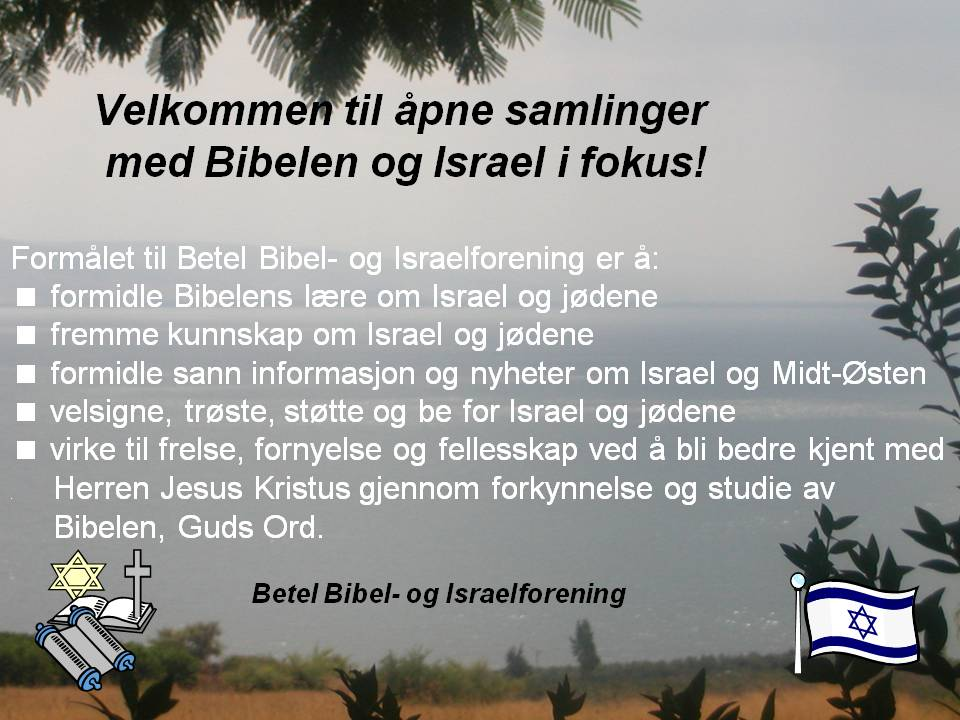 BBIF formål Bibel- og Israelmøter samlinger