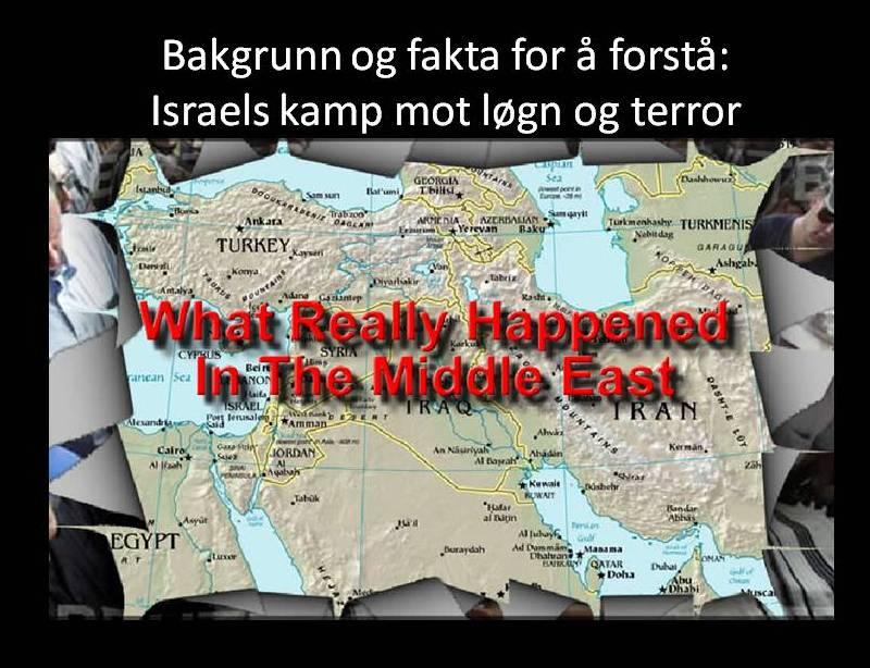 Bakgrunn og fakta Midt-østenkonflikten