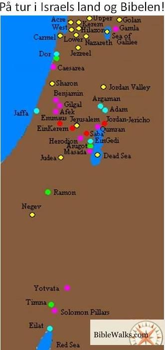 BibleWalks Tur i Israels land og Bibelen