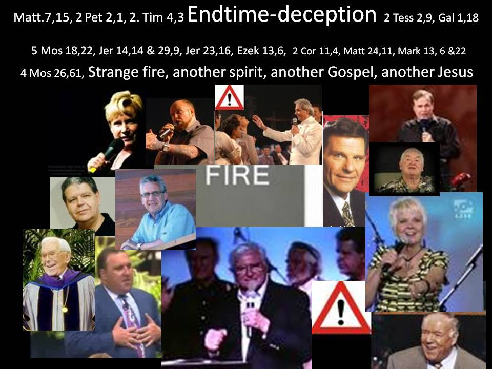 Endtime deception False FIRE annointing spirit
