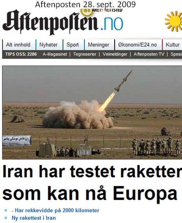 Irans raketter når Israel og Europa