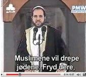 Imam jødehat fra moske sendt på Palestinaarabisk TV