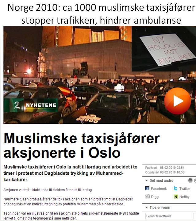 Islam muslimer i Norge 2010 taxiprotest