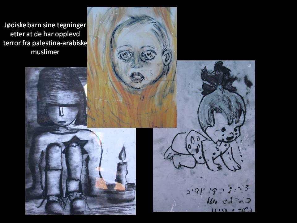 Israelske barns tegninger mot terror