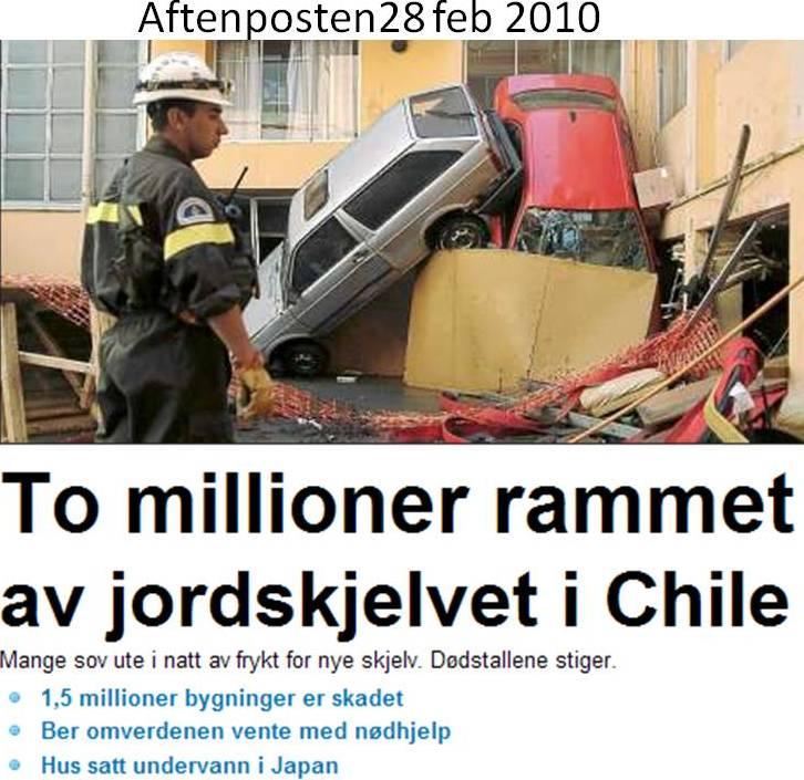 27 februar jordskjelv og tsunami i Chile
