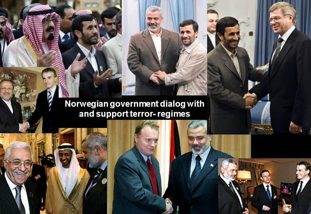 Norway recognize and support  Hamas PLO Fatah Iran terror regimes