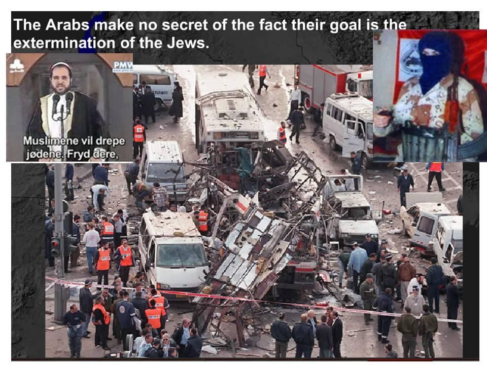 Palestina arabisk muslimsk terror mot Israel og jøder